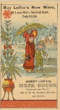Old Fishing lure maker Henry Loftie Trade Card