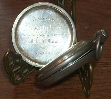 Old Fishing Lure make John Mann engraved pocket watch