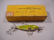 South Bend Antique Lure, the 3 Hook Underwater Minnow